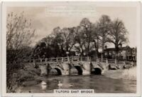 Tilford East Bridge River Wey Surrey England 1930s Trade Ad Card