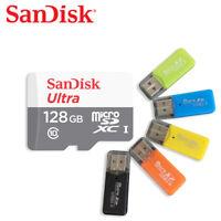 SanDisk 128GB micro SDXC C10 UHS-I Speicherkarte 100MBs mit Kartenleser X1