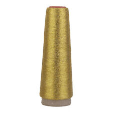 90D Golden Silk Metallic Embroidery Thread Spool for Sewing Craft