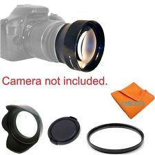 2X Tele Converter Lens +UV FILTER+HOOD+ CAP FOR CANON EOS REBEL SL1 80D 5D 6D T5