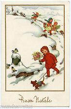 CHIEN TECKEL. DACHSHUND. DOG. ENFANTS. CHILDREN. CHILD. NEIGE.SNOW.HIVER.WINTER