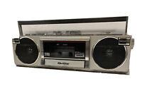 Quasar GX-3614 Vinyage Boombox AM/FM Radio/Cassette Player (See Description)