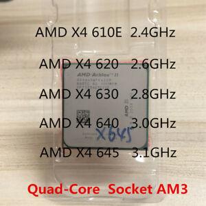 AMD Athlon II X4 610E X4 620 X4 630 X4 640 645 CPU 4-Core Socket AM3 Processor