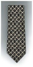 "Pierre Cardin Tie Brown Checks 100% Silk 57"" x 4"" Made in USA New"