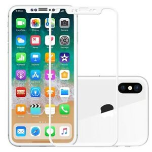 For Apple IPhone X - 100% Genuine Tempered Glass Film Screen Protector White