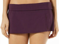 NWT Bleu Rod Beattie Women's Skirted Hipster Bikini Bottom Purple Size 6