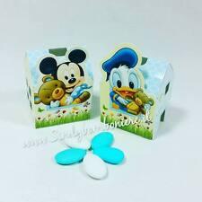 BOMBONIERA Disney Topolino PAPERINO HOUSE PORTACONFETTI NASCITA Battesimo SCATOL