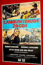 FAUSS AND BIG HALSY 1970 MOTORCYCL ROBERT REDFORD HUTTON FURIE EXYU MOVIE POSTER