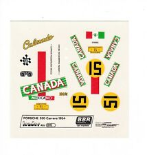 BBR Decal Sheet LE015 Porsche 550 Carrera 1954 Nr15 Mexicano  Scale 1/43