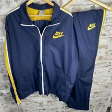 Nike Men's Blue And Yellow Tracksuit 2-Piece Jacket & Pants XXL