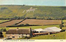B101180 hill figure of king george III weymouth  uk  14x9cm