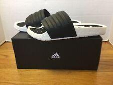 NEW Adidas Adilette Boost Slides EG1910 Core Black/White Men Size 11 *FAST SHIP*