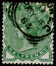 SG164, ½d deep green, FINE USED. Cat £22.