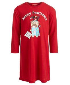 Matching Family PJs Happy Pawlidays Dog Christmas Sleep Shirt - 4-5 XS #5810