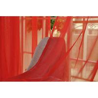 2 M tête de rideau avec Covert Boucles Transparent Etoffe pour Décoration rideau