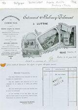 Belgique - Luttre - Superbe Entête Facture + Traite d'un Imprimeur du 30/06/1905