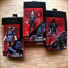 "STAR WARS 6"" Black Series JYN ERSO CASSIAN ANDOR K-2SO #22 #23 #24 ROGUE ONE set"