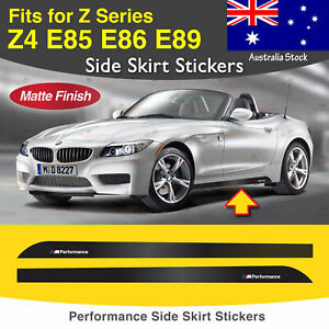 For BMW Z4 E85 E86 E89 M Performance Side Skirt Sill MATTE Decal Stickers 2PC AU