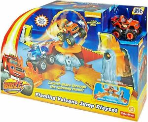 Fisher-Price Blaze and the Monster Machines Flaming Volcano Jump Playset & Truck