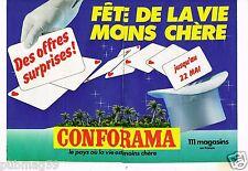 Publicité advertising 1983 (2 pages) Les Magasins Conforama