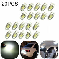 20X T10 501 W5W CAR SIDE LIGHT BULBS ERROR FREE CANBUS WEDGE SMD LED XENON HID