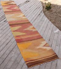 Turkish Kilim Rug 26''x150'' Vintage Runner Kilim Corridor Kilim Hallway Rug