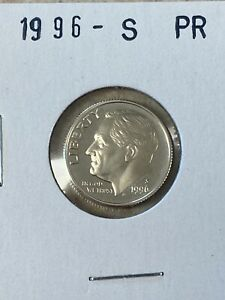 1996 S PROOF 90% SILVER ROOSEVELT DIME