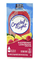 50 10-Packet Boxes Crystal Light Raspberry Lemonade On The Go Drink Mix
