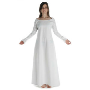 Mittelalter Kleid Hildegune Baumwolle Schnürung am Arm | HEMAD Gewandung LARP