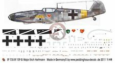 Peddinghaus 1/48 Bf 109 G-6 Markings Erich Hartmann 4./JG 52 Hungary 44 WWII 735