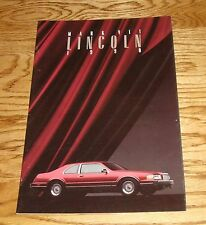 Original 1990 Lincoln Mark VII Sales Brochure 90
