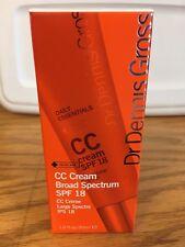 2x NIB Dr. Dennis Gross CC Cream SPF 18 Medium to Dark 1.0 fl oz B17