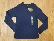 Claiborne Long Sleeve Casual Ribbed Sweater Navy Blue Men's Size Large New
