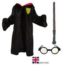 CHILDS WIZARD COSTUME Girls Boys Book Week Fancy Dress Glasses Magician Wand UK