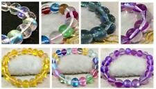"Bracelet Multicolor Gleamy Rainbow Moonstone Round Gems Beads 6/8/10/12mm 7.5""AA"