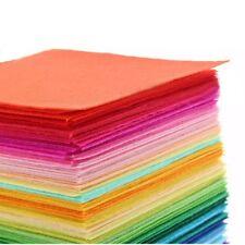 22pcs Mixed Color Soft Nonwoven Felt Fabric Sheets 15x15cm DIY Craft Patchwork