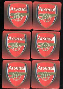 ARSENAL F.C. Pack of Official Crested Beer Mats / Coasters FREE POST UK RED
