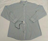 Brooks Brothers Mens Classic Striped Button Down Dress Shirt Sz 17 37
