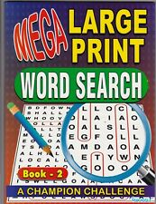WORDSEARCH PUZZLE BOOK MEGA LARGE PRINT BOOK  - BUY ANY 2 GET ANY 1 FREE