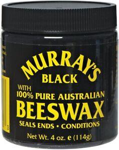 Murray's Black 100% Pure Australian Beeswax Pomade 114g