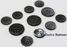 Grey Trocas Genuine Shell Buttons Set For Suit, Blazer, or Sportcoat
