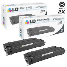 LD Remanufactured Replacements for HP 74A / 92274A 2PK Black Toner Cartridges