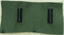 US ARMY SEW ON RANK PAIR FIRST LIEUTENANT SUBDUED OLIVE DRAB EMBROIDERED BDU NEW