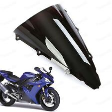 New Black Double Bubble Windscreen Windshield ABS for Yamaha YZF R1 2002-2003