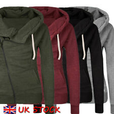 UK Womens Warm Fleece Zip Hooded Parka Overcoat Hoodies Coat Top Jacket