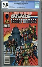 G.I. Joe and the Transformers #4 CGC 9.8 NM/MT Newsstand Variant WHITE PAGES