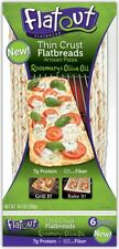 Flatout Artisan Thin Pizza Crust Rosemary & Olive Oil - 6 Crusts, Low Fat