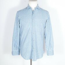 Giannetto Portofino Blue Check Snap Button Shirt Medium