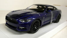 Maisto 1/24 Scale 31508 2015 Ford Mustang GT 5.0 Metallic blue Diecast model car
