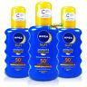 3x Nivea Moisturising Sun Spray SPF50+ UVA/UVB Protection 200ml Water Resistant